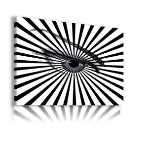 EYEBROW BLACK EYE TUNNEL PRINT Canvas Wall Art Picture  AB3  MATAGA