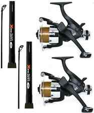 CARP FISHING SET UP 2 X 12FT CARP FISHING RODS + 2 X EG60 CARP RUNNER REELS
