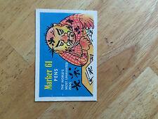 1960 MR. BALONEY'S COMICS VINTAGE TRADING CARD MARKER 61 PENS MAD CRAZY 9 ART 60