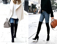 Black Over The Knee Boots size uk 6 eu 39