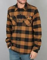Dickies Men's BD Brown Duck Plaid Sacramento L/S Flannel Shirt (Retail $44.99)