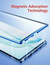Case For Samsung Galaxy Note 10 Plus Clear Aluminum Bumper Magnetic Cover Blue
