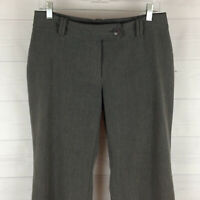 Pursuits ltd petite womens 6P stretch gray flat front straight dress career pant