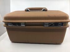 Vintage Samsonite Concord SURVIVOR Train Makeup Case Traveler Bag Brown w/ Tray