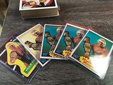 1985 Topps wresting WWF Hulk Hogan 4 rookie cards plus Near complete set lot -8