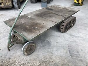 Wolseley Lister d stationary engine trolley Vintage Rare Tank Track ; Well Made