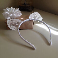 Kitty Cat Ears Headband White Cosplay Costume Lace Tiara Party Halloween Concert