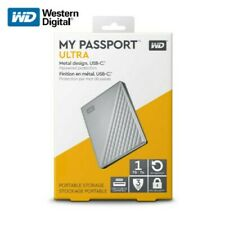 WD 1TB My Passport Ultra Silver Portable External Hard Drive, USB-C