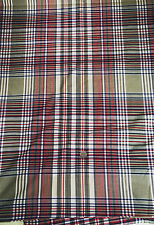 Cotton Voile Fabric Plaid  Apparel Weight Smooth Hand Green   Bfab
