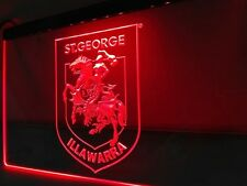 St George Dragons LED Neon Sign Flag Large NRL Rrp $79.95