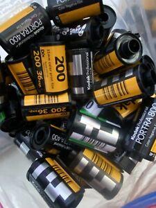 100 EMPTY Assorted 35mm Film Cartridges, Canisters, Cassettes - Fuji, Kodak Etc