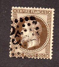 FRANCE 1867 n° 30b (brun-noir) GC