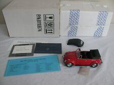 Franklin Mint Precision Models 1/24 Scale Red 1967 Volkswagen cabriolet EX