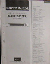 Sansui T-505/505L tuner service repair workshop manual (original copy)