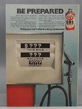 Vintage Magazine Ad Print Design Advertising STP Gas Treatment