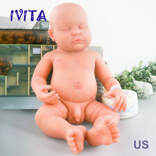 IVITA 18.5'' Full Body Soft Silicone Reborn Baby BOY Real Doll Sleeping Baby
