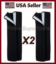 2 Premium Black Fleece Seat Belt Comfort Pad Covers/Dress & Pads Your Shoulder