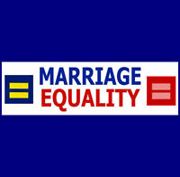 "MARRIAGE EQUALITY  Bumper Sticker    ""Support Gay Rights"" (Buy 2 Get 1 Free)"