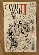 SOLD OUT: CIVIL WAR II #1 - J. SCOTT CAMPBELL - MIDTOWN COMICS SKETCH EXCLUSIVE
