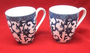 Ralph Lauren China Mandarin Blue Mug Set of 2