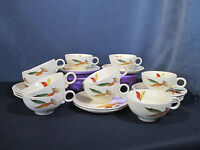 Cups Saucers Vtg Princess Universal Pottery China Autumn Leaf Set of 21 pieces