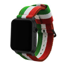 Pulsera de Nailon para Apple Watch 6/5/4/3/2/1/SE bandera de Italia 42-44mm