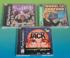 Be a Millionaire, Wheel of Fortune, Know Jack Playstation 1 2 PS1 PS2 Rare Games