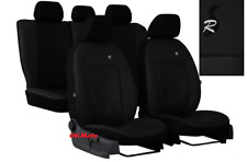 Universal Black EcoLeather Set Car Seat Covers for Toyota Avensis / Yaris
