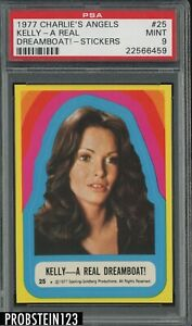 1977 Charlie's Angels Sticker #25 Kelly - A Real Dreamboat ! PSA 9 MINT