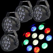 4stk LED RGBW Par Licht DMX512 Bühnenbeleuchtung Show Party DJ Disco Club Lampe