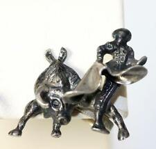 Bull Fighter Earrings 7/8� – 8645 Beautiful Sterling Silver Mexico Bull &