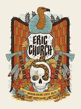 Eric Church poster American Airlines Center Dallas, TX 2/3/17