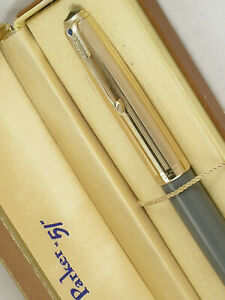 "VINTAGE 1946 PARKER ""51"" VACUMATIC FOUNTAIN PEN ~ GOLD CAP ~ CASE ~ RESTORED!"