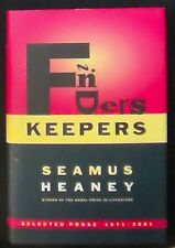 Finders Keepers:Selected Prose 1971-2001 Seamus Heaney HB/DJ 1st Am Ed