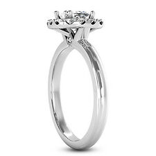 1 CT SI1/F CUSHION CUT DIAMOND SOLITAIRE ENGAGEMENT RING 14K WHITE GOLD
