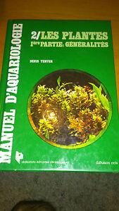 Manuel d'Aquariologie par Denis Terver - Les plantes 1ère partie : généralités