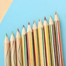 Office Drawing 10pcs In New Pencil 4 In 1 Colored Pencil Pencils Rainbow