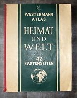 Westermann Atlas Heimat und Welt 42 Kartenseiten 1958