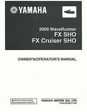 Yamaha Owners Manual Book WaveRunner 2009 FX SHO & FX CRUISER SHO