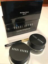 Bobbi Brown Long Wear Gel Eyeliner 2 Piece Black Mauve Shimmer Set 1oz NEW BOX