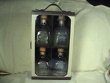 Patron Tequila Travel Case W/ Four Empty Bottles, Anedo XO Cafe Reposado Silver