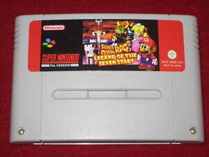 *English & PAL* MARIO RPG LEGEND OF THE SEVEN 7 STARS For SNES Super Nintendo