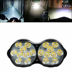 1x Motorcycle 18 LED Headlight Spot Light Driving Fog Lamp Scooter ATV Dirt Bike