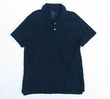 WALLACE & BARNES MENS XL Anchor Print Indigo Polo Shirt J.Crew C6129