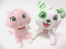 "Strawberry Shortcake Custard Cat and Pupcake Dog Classic Plush Doll 8"" New"