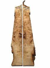 2x Pappel Maser Epixid Holz Maserholz burl 58x7/11cm 33mm