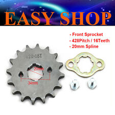 20mm 428 16T Teeth FRONT CHAIN SPROCKET 250cc ATV PIT QUAD DIRT BIKE HONDA CT110