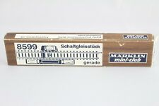 8599 Droit Morceau 110 mm Märklin Voie Z Emballage D'Origine + Top +