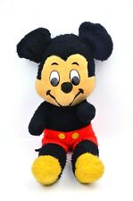 """New listing Vtg 1960s Mickey Mouse 20"""" Stuffed Toy Happy Smiling Red Yellow Black w. Tail"""