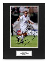Roberto Carlos Signed 16x12 Photo Display Real Madrid Autograph Memorabilia COA